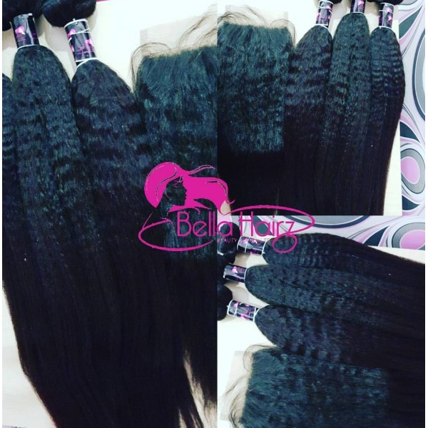 Kinky Straight Peruvian Hair